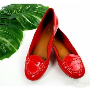 Sperry penny loafers patent leather red 8 1/2